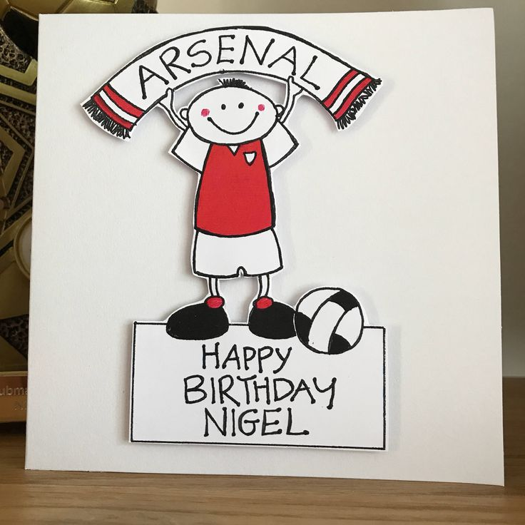 A personal favourite from my Etsy shop https://www.etsy.com/uk/listing/539673469/arsenal-football-personalised-birthday