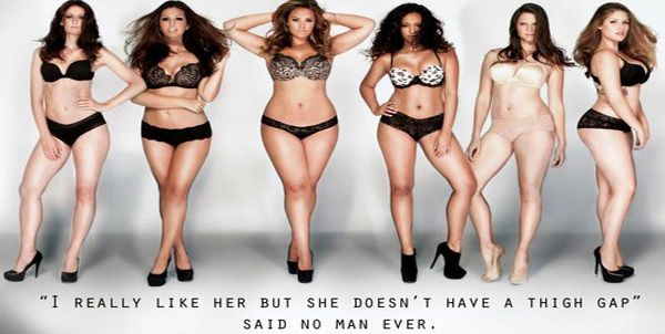 what is the ideal female body according to men