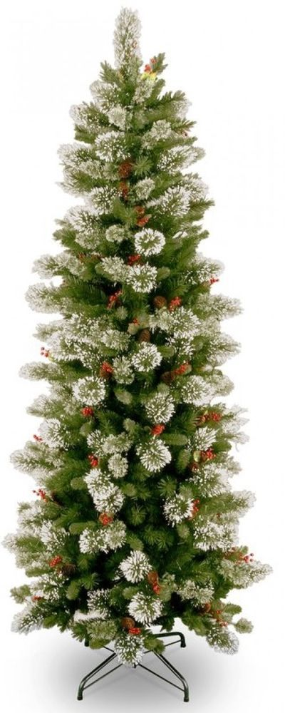 Amazing Artificial Christmas Tree with Berries Snowflakes Green Pine Festive Decor Xmas