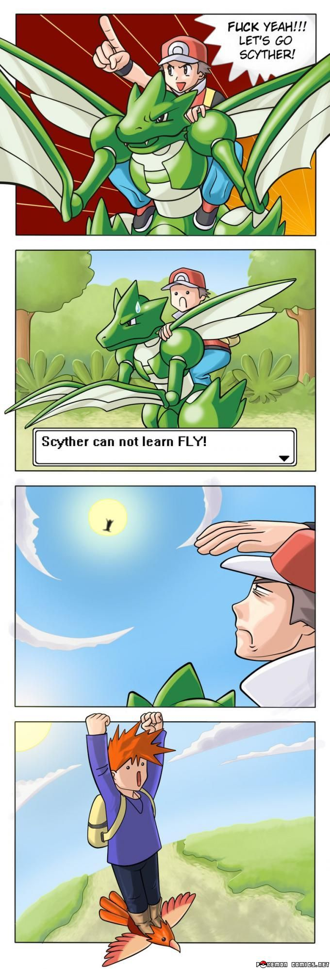 Pokémon logic. I love Gary though. This reminds me of the Pokémon in Real Life vids by SMOSH!