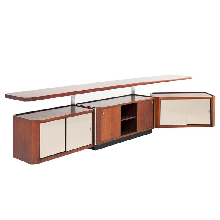 Osvaldo Borsani - Rosewood Adjustable Console | From a unique collection of antique and modern credenzas at http://www.1stdibs.com/furniture/storage-case-pieces/credenzas/
