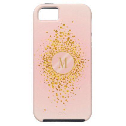 Confetti Monogram Rose Gold Foil ID445 iPhone SE/5/5s Case - monogram gifts unique custom diy personalize