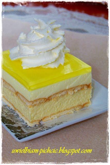 Ciasta, ciasteczka i torty czyli.... Uwielbiam pichcić!: Ciasto cytrynowe bez pieczenia z serem i pianką