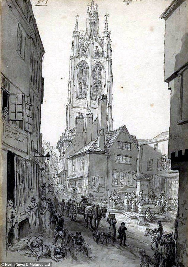 Drinkers on the streets of Newcastle: Scenes of drunkenness and abandon on the streets (Bigg Market) of Newcastle depicted in this early 19th Century sketch