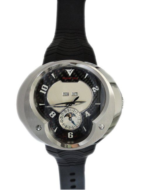 Limited Edition Franc Vila annual calendar titanium with steel bezel, reference FVA7.    http://www.liveauctioneers.com/item/25627348_limited-edition-franc-vila-annual-calendar-titanium