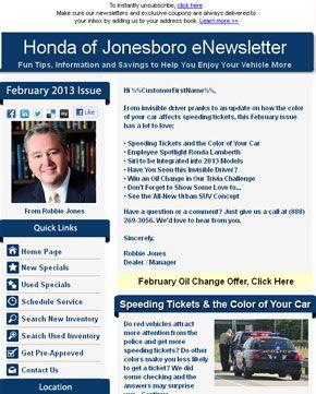 Honda of jonesboro eNewsletter