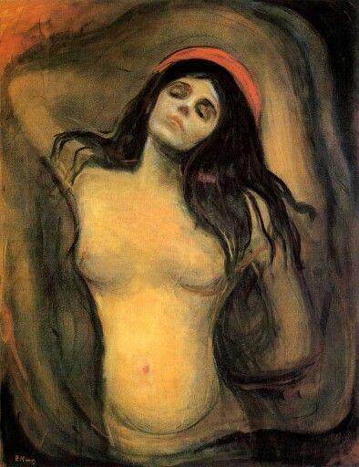 """""""La Madonna"""" (1894)- Edvard Munch (Expresionismo) (Noruega) (1863-1944)."""