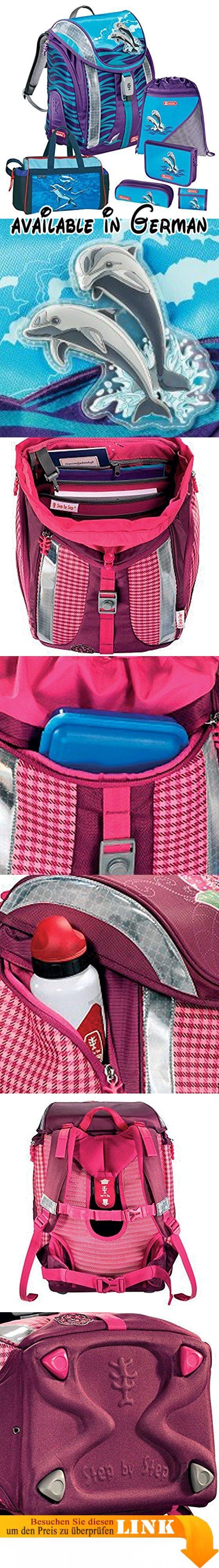 Step by Step FLEXLINE Happy Dolphins Schulranzen-Set 6 tlg. Delfine Sporttasche. Das Set enthält:Step by Step Flexline Schulranzen. Federtasche mit 1 Klappe, 24tlg. Lyra-Markenfüllung. Hochwertige, schicke Marken-Sporttasche, stabiler Boden, Außen-Vortasche mit Zipper, verstellbarer Umhängegurt. Turnbeutel, Schlamperetui. Brustbeutel, Schultüte 6-eckig 85cm OHNE Deko #Koffer, Rucksäcke & Taschen #LUGGAGE