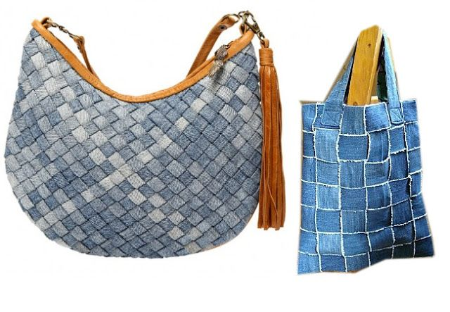 17 best images about recycling old jeans into bags on for Old denim