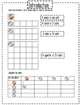 This really works well to teach adding coins! Value of Coins with Counting Coin Grids