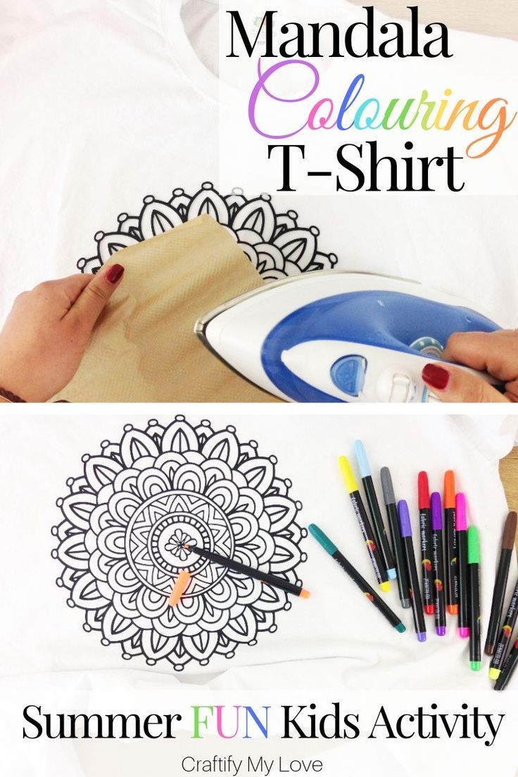 Mandala Colouring T-Shirt – Summer Fun Activity for Kids & Grown-Ups