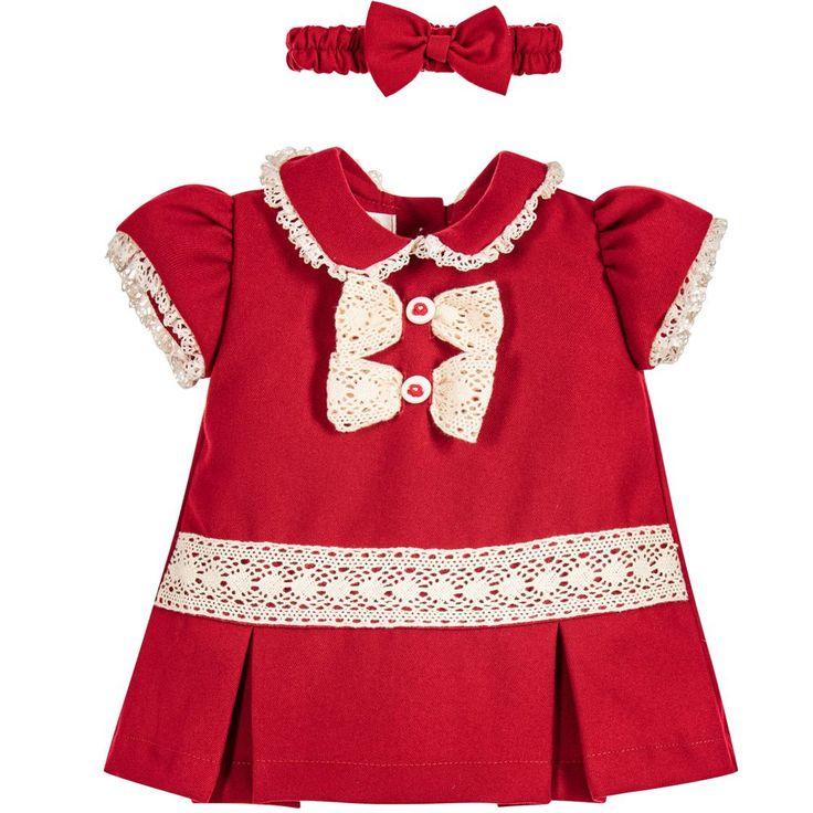 Pretty Originals Girls Red 3 Piece Dress Set at Childrensalon.com
