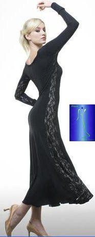 Современный танец юбка исполнительской практики юбка платье обе стороны долго кружева платье 09m012