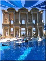 If you've ever wanted to swim with the dolphins, there is a chance when visiting Kusadasi.  Go to Aqua World.