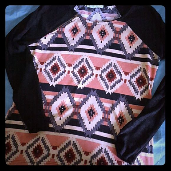 Long sleeve aztec shirt Only wore it once. Long sleeve shirt from Maurices in aztec print! Super soft! Maurices Tops Tees - Long Sleeve