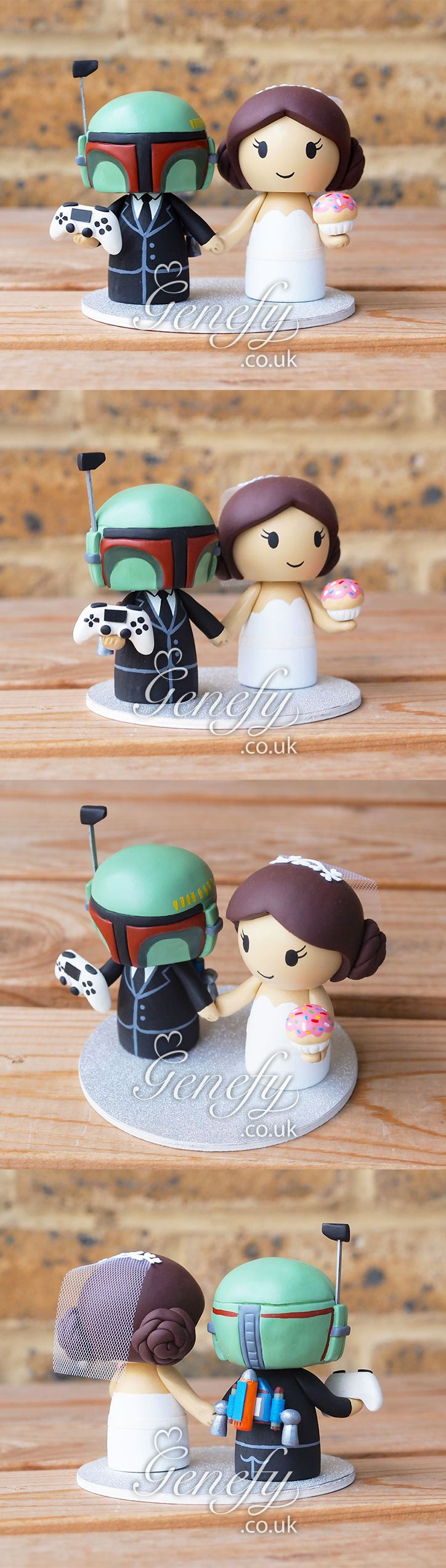 Boba Fett with jetpack wedding cake topper by Genefy Playground  https://www.facebook.com/genefyplayground