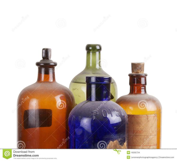 Botellas Viejas De La Medicina Imagenes de archivo - Imagen: 19205734