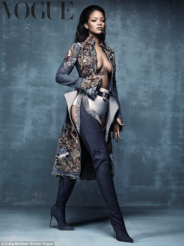 Fashion mogul: Rihanna is launching a new collection of high heels with designer Manolo Blahnik, and modeled them in the new British Vogue