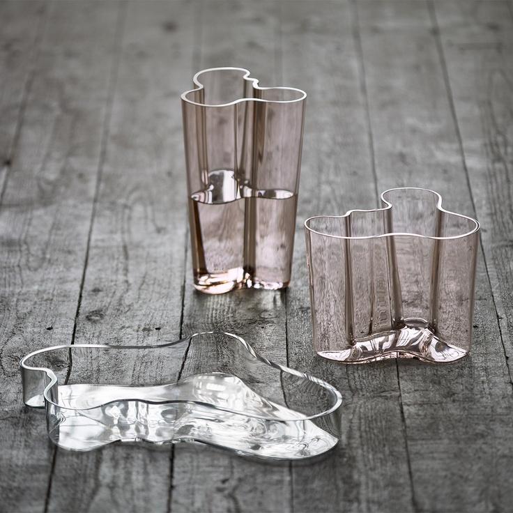 Aalto rose pink vases