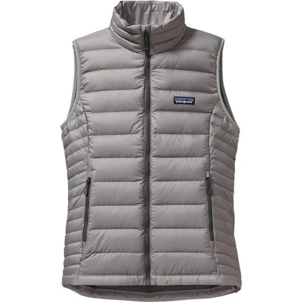 Patagonia Down Sweater Vest (105 CAD) ❤ liked on Polyvore featuring outerwear, vests, long vests, green sweater vest, slimming vest, patagonia vest and green waistcoat