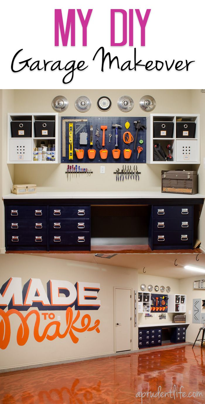 We did a complete garage makeover in under 5 weeks! The garage now has a built in workbench, plenty of storage, and an amazing copper floor. Wait until you see all the before & after photos!