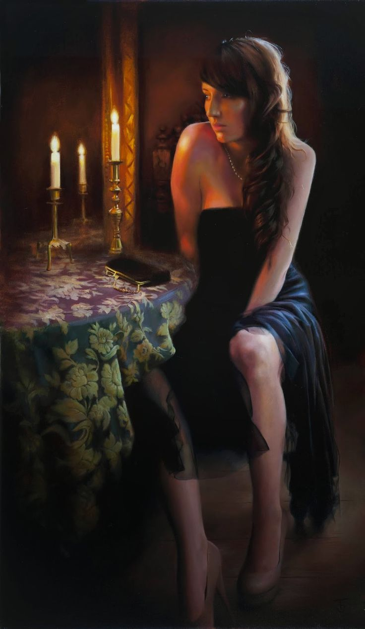 136 best ♤ By Candlelight images on Pinterest | Figurative art ... for Girl With Candle Painting  143gtk