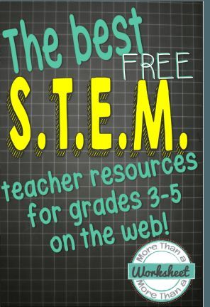A HUGE list of STEM resources, all free! STEM Challenges, tips for managing STEM, and helpful blog posts and articles from More Than a Worksheet