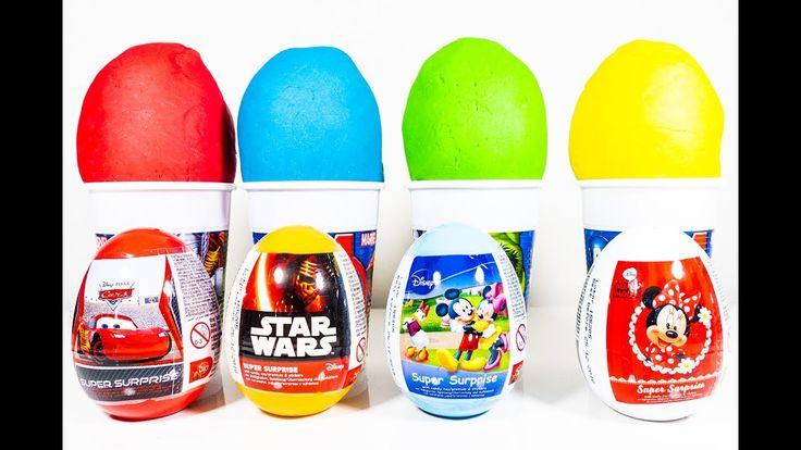Learn colors, Surprise Eggs, Spider Man, Frozen, Disney Cars, Star Wars