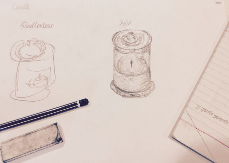Day 2~ Contour Drawing~ Candle