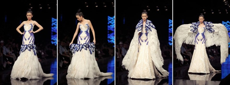 """Magnificent Cloudy"" by Albert Yanuar at Jakarta Fashion Week 2012 