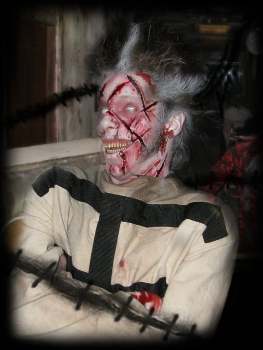Lunatic in straightjacket - The 13th Gate Haunted House in Baton Rouge, Louisiana