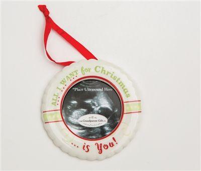Sonogram Christmas Ornament