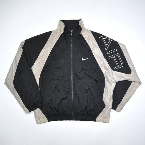 b296c3e0c23a Rare Vintage 80s 90s NIKE AIR Windbreaker Color Block Jacket   NIKE Big  Logo Retro Old school Streetwear Hip Hop Rap Fashion Track Hypebeast