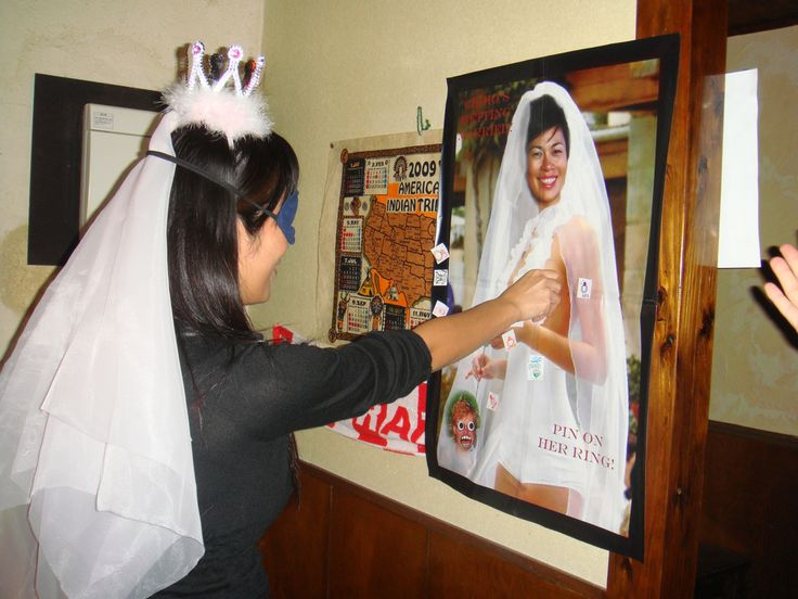 Pin the Ring (or Pin the Bling) on the Bride: a great Bachelorette or Stag and Doe game!