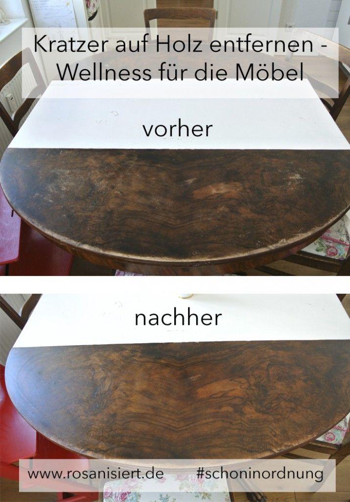 Sind eure Holzmöbel auch so verkratzt? Hier sind die besten Tipps