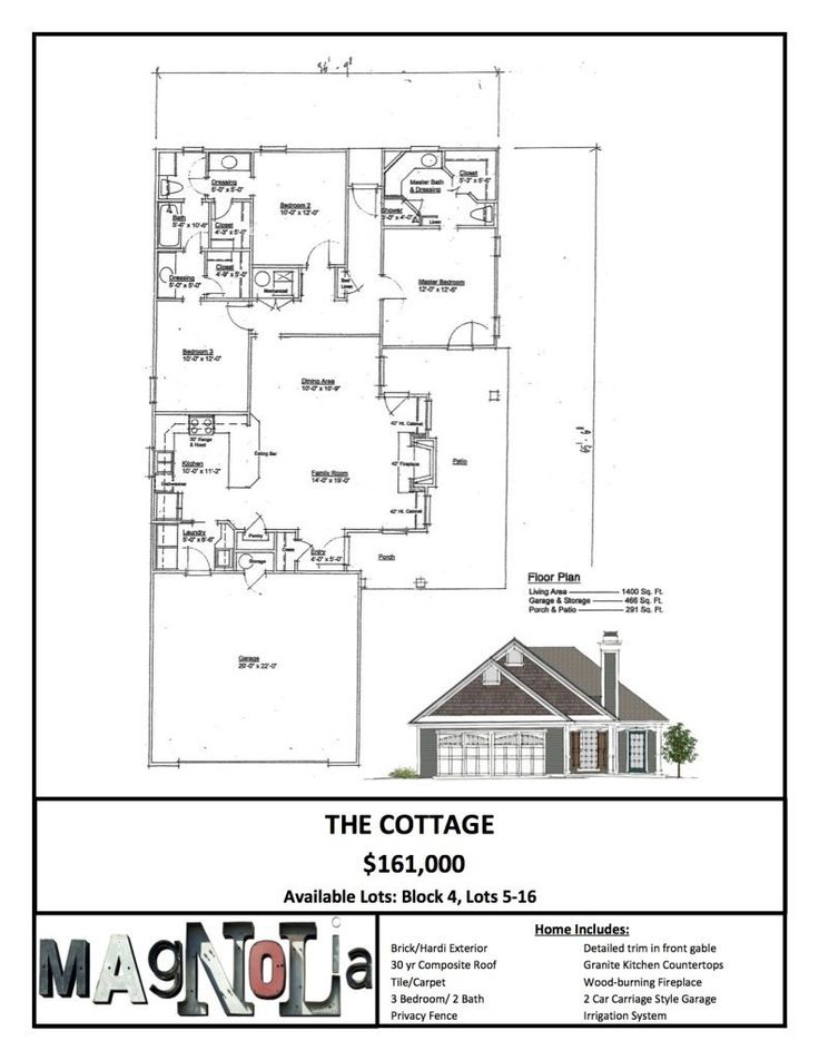 The Cottage Magnolia Villas Waco Real Estate House Floor Plans Magnolia Homes House Plan Gallery