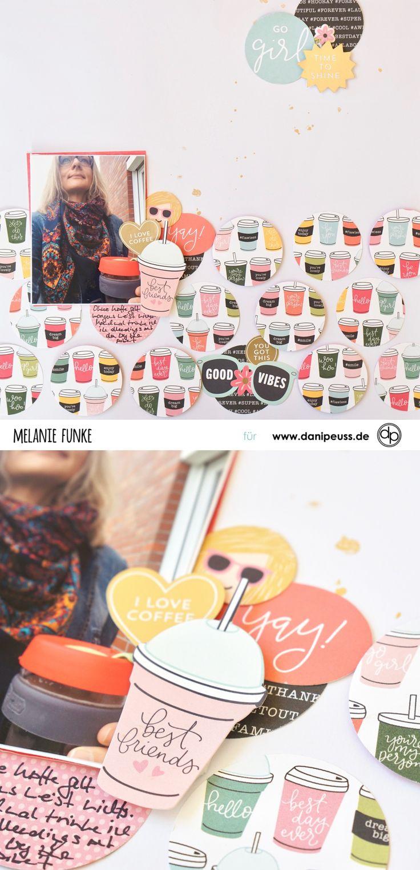 "zauberhaftes Scrapbookinglayout mit dem  ""Februar Kit 2018"" | von Melanie Funke für www.danipeuss.de | #danipeuss #scrapbooking #scrapbookinglayout"