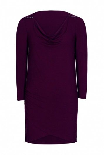 Cowl Jersey Tunic With Studs at Long Tall Sally, your number one