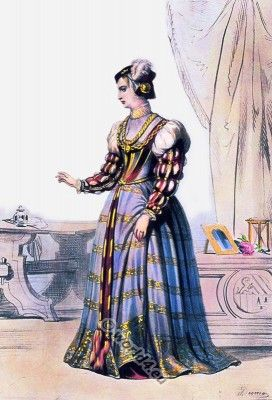 16th century renaissance fashion under the Reign of Francis I.