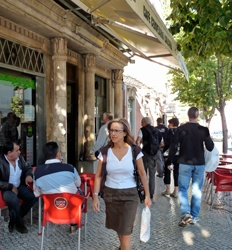 Many are surprised at what a coffee culture Portugal has. Cafes spill onto sidewalks everywhere and the espresso is universally great. More of a latte lover? Order a galao (ga -lou as in ouch) and you'll get a glass of creamy coffee with a spoon sticking up in it. Sugar optional!