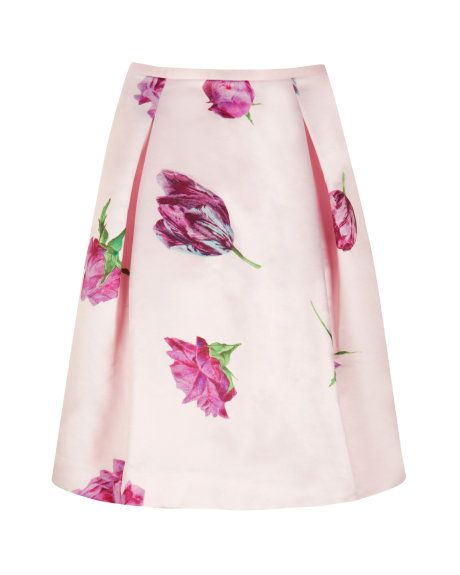 Tulip print skirt - Pale Pink | Skirts & Shorts | Ted Baker #pinpoinTED