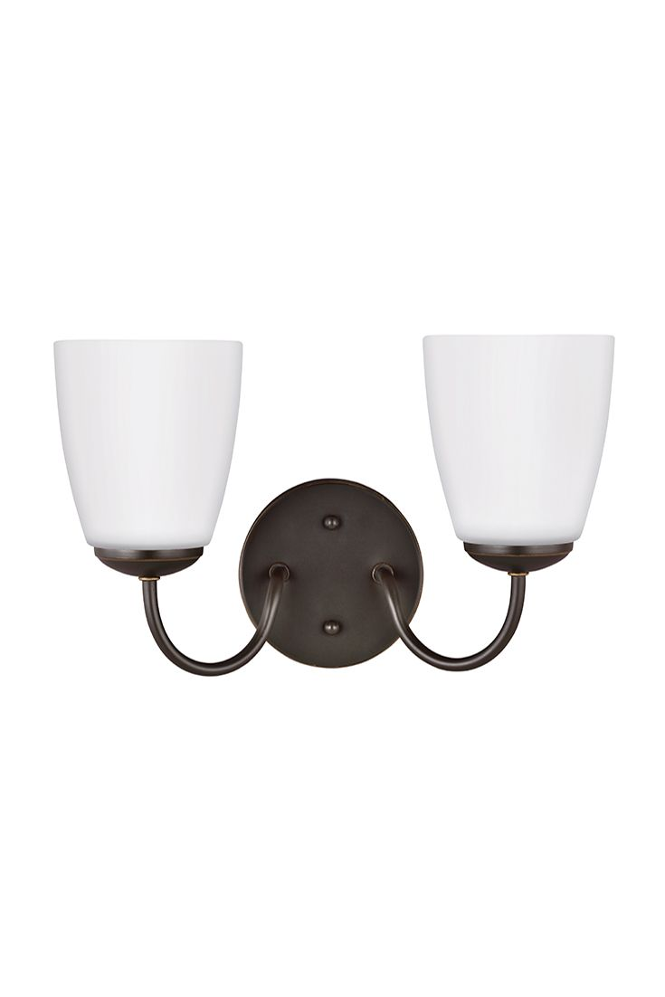 Bannock  2 Light Wall / Bath Sconce By Sea Gull Lighting: Allows This  Transitional