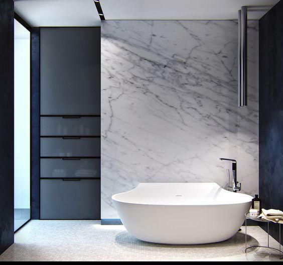 40 Creative Ideas For Bathroom Accent Walls: 17 Best Ideas About Modern City Bathrooms On Pinterest