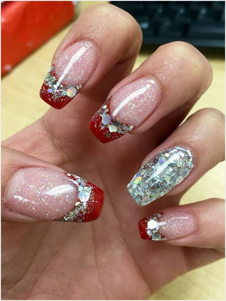 254 Simple Christmas Nails Coffin Shape Di 2020