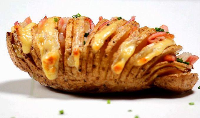 Cartofi copți cu bacon (Cartofi acordeon) | Retete culinare - Romanesti si din Bucataria internationala