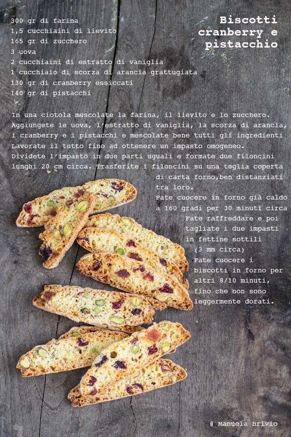 Biscotti cranberry e pistacchio