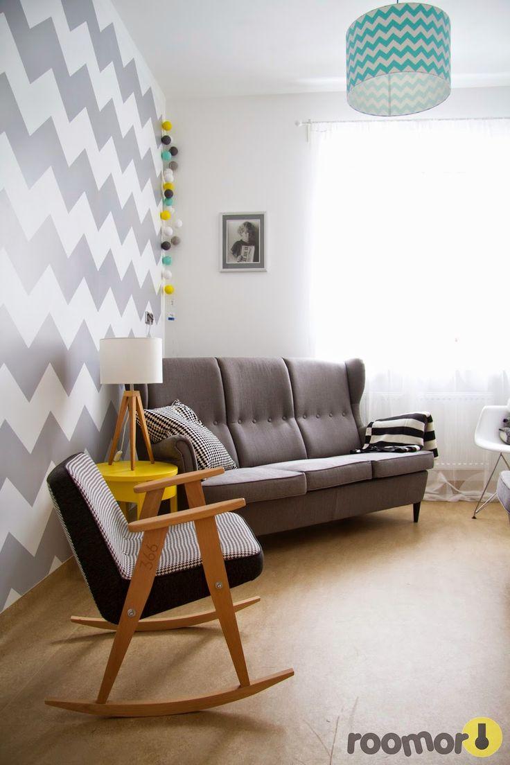 roomor!: roomor! 366 Concept, Chierowski, chevron, living, roomor project, cotton ball lights, #Fundacjagajusz