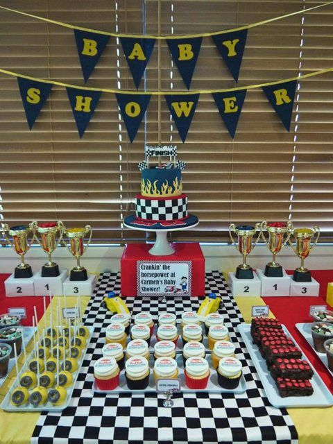 Race car baby shower #racecar #babyshower
