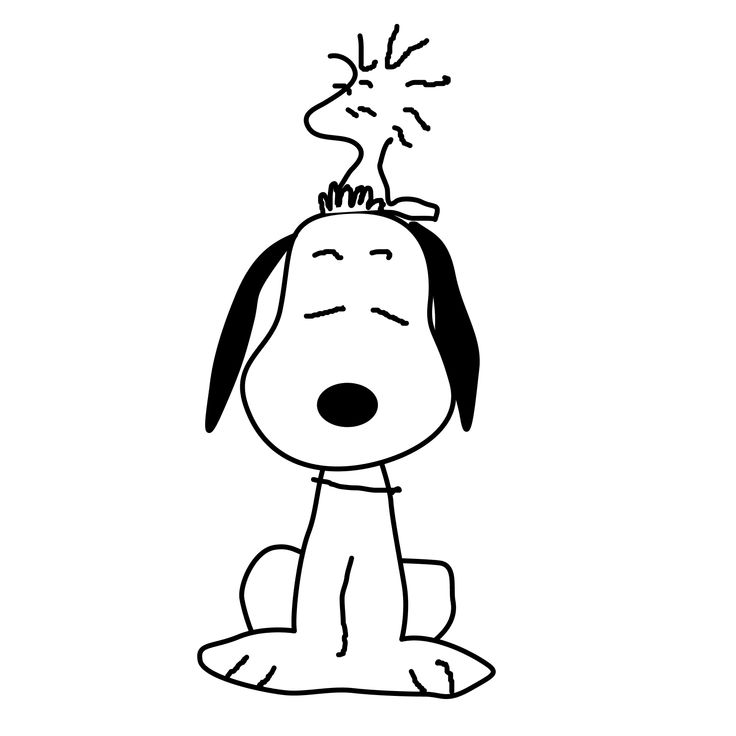 one of my favorites - Peanuts Characters Coloring Pages