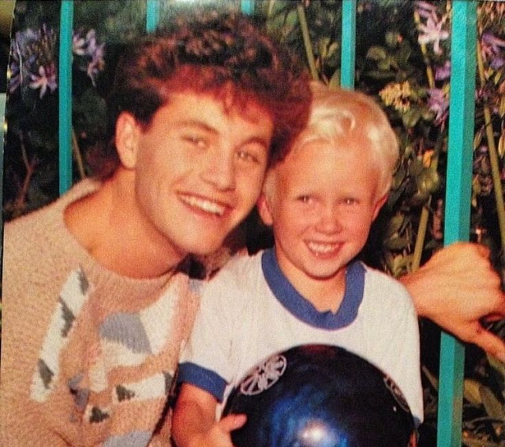 Kirk Cameron and a fan in 1988